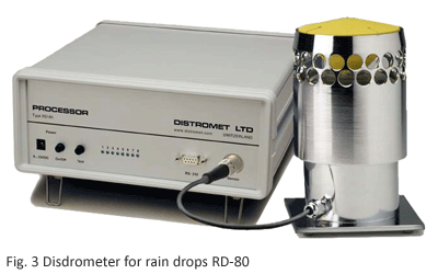 Disdrometer for rain drops RD-80